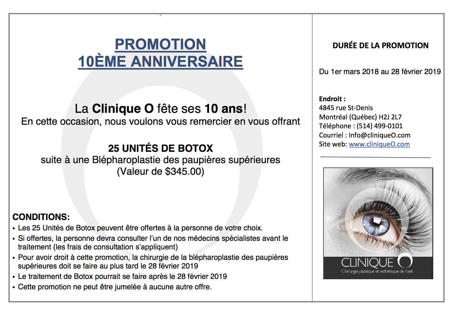 Promotion 10e anniversaire 2